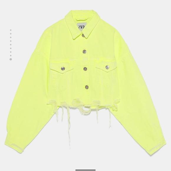 e484458c67 Zara neon denim jacket